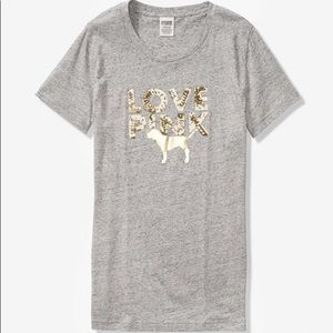 Vs pink campus bling tee